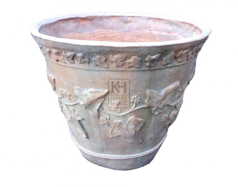 Decorated planter urn