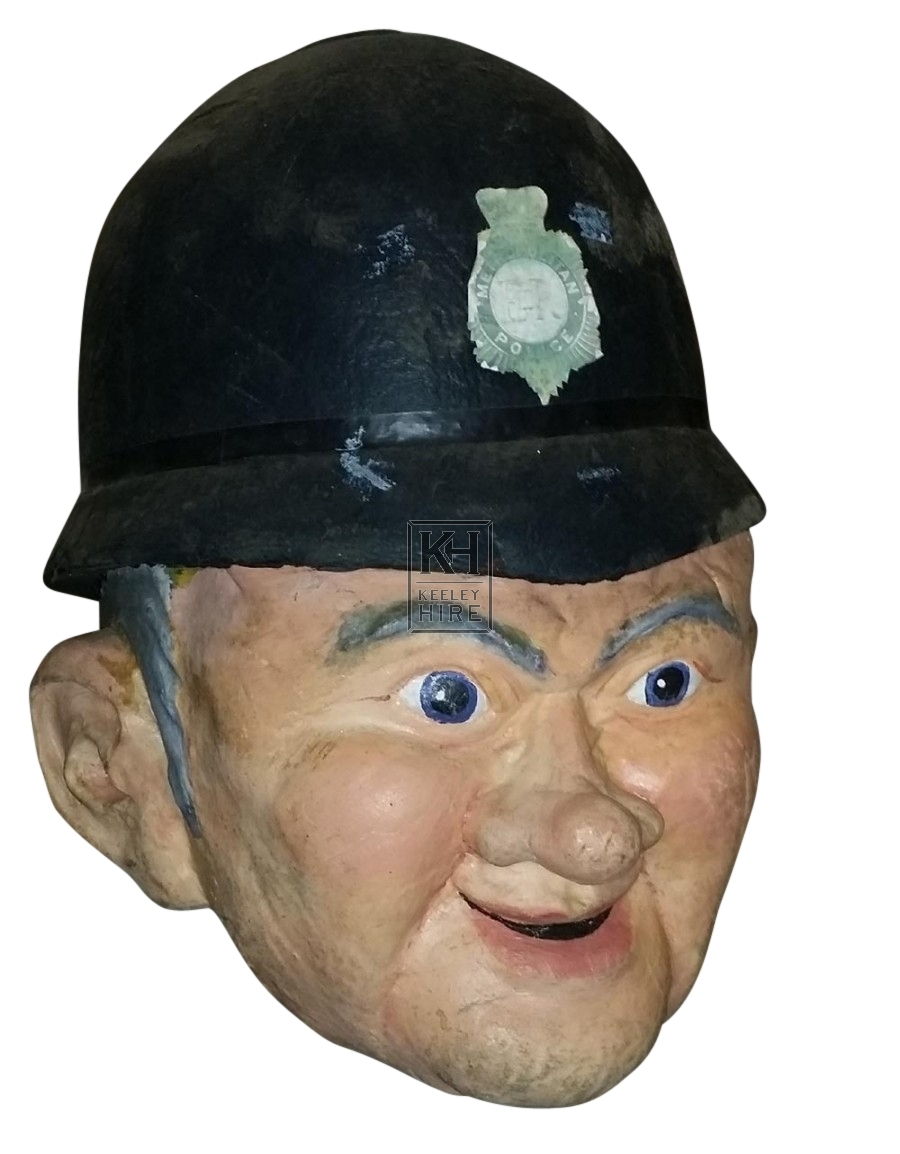 Giant head Policeman