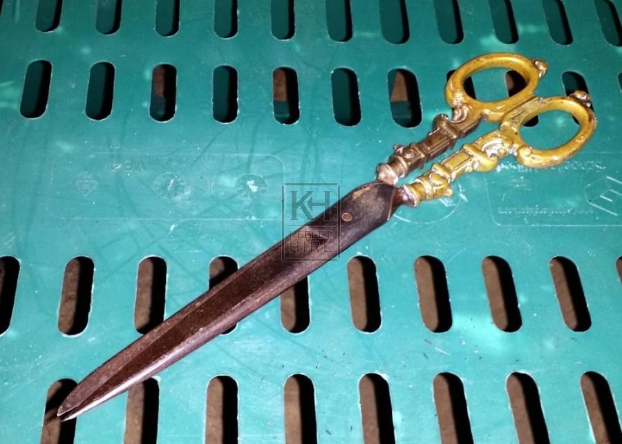 Period brass scissors