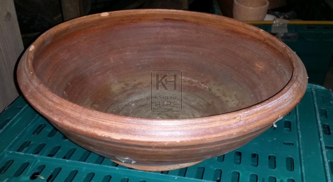 Large ceramic shaped bowl
