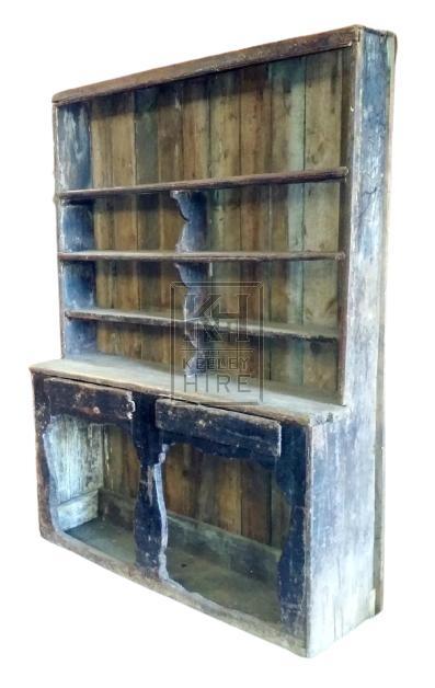 Large aged wood dresser