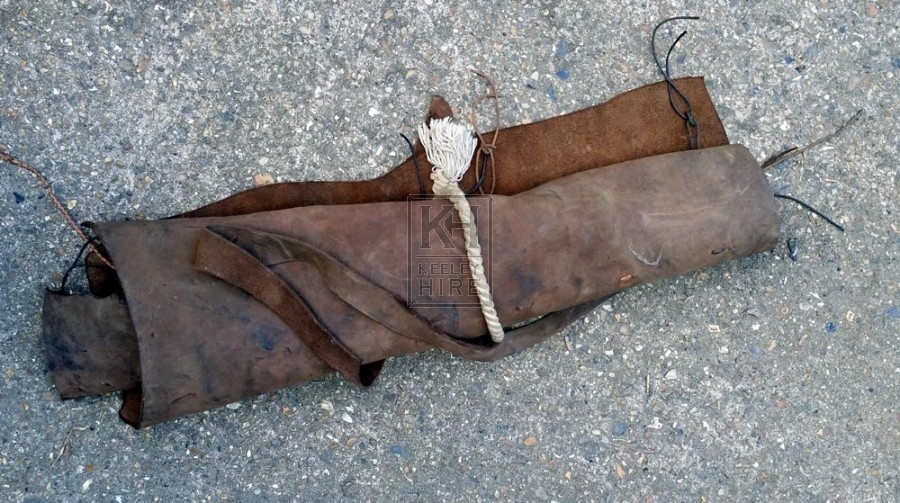 Leather tool roll no tools