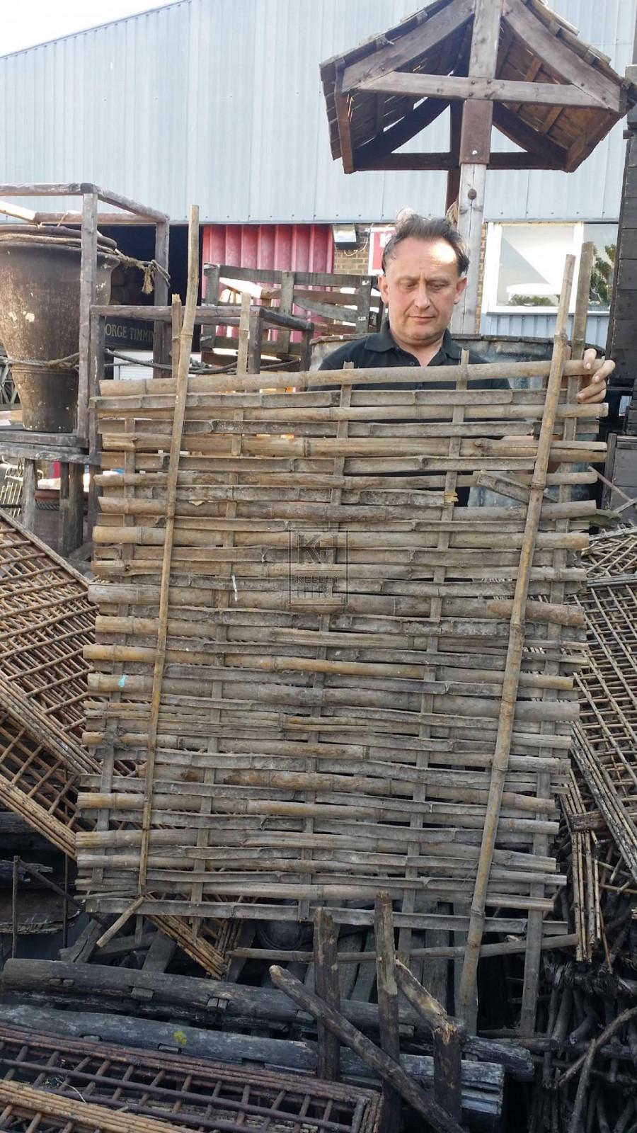 Split bamboo panels