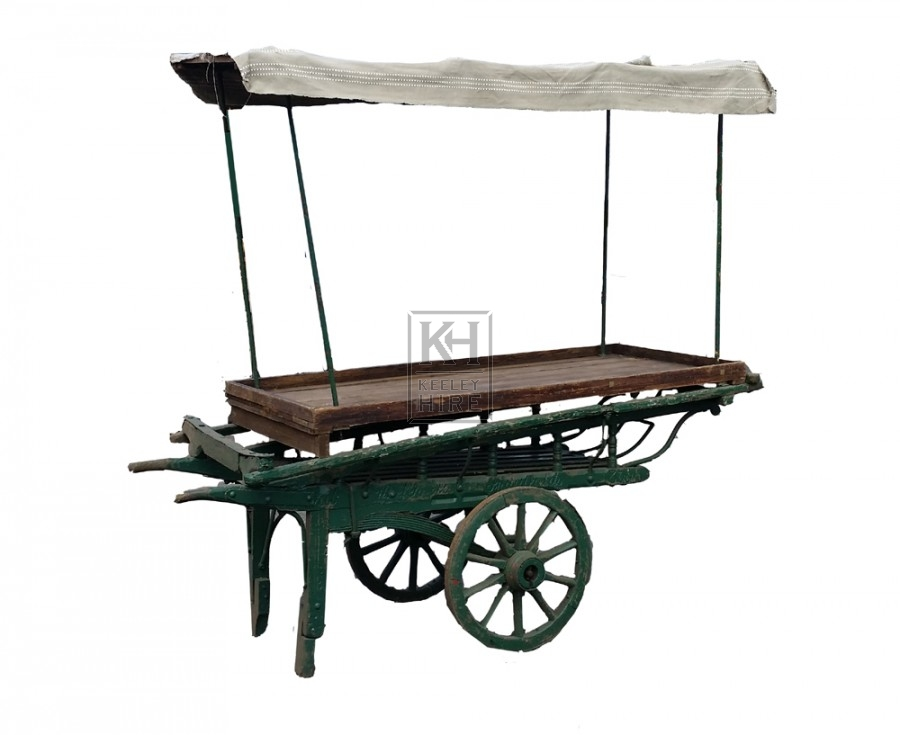 2-wheel coster barrow with plain top