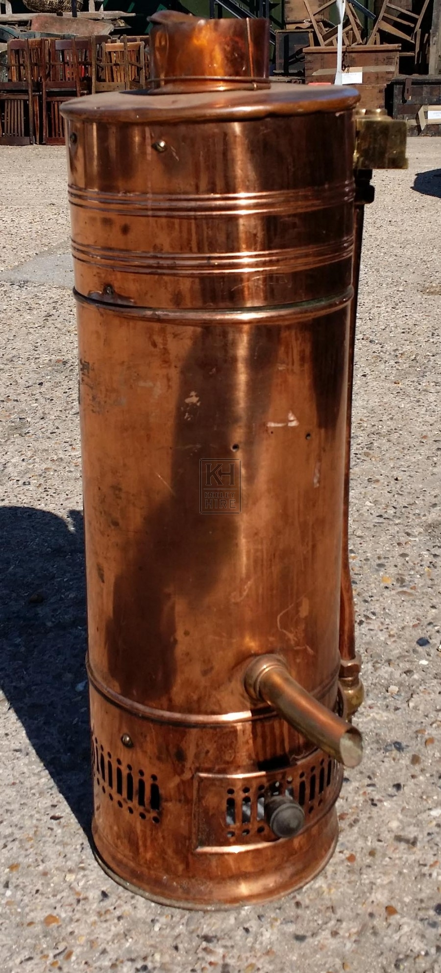 copperware prop hire large copper water boiler keeley hire
