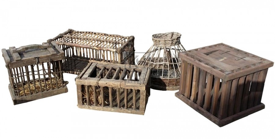 Assorted wood chicken cages 2