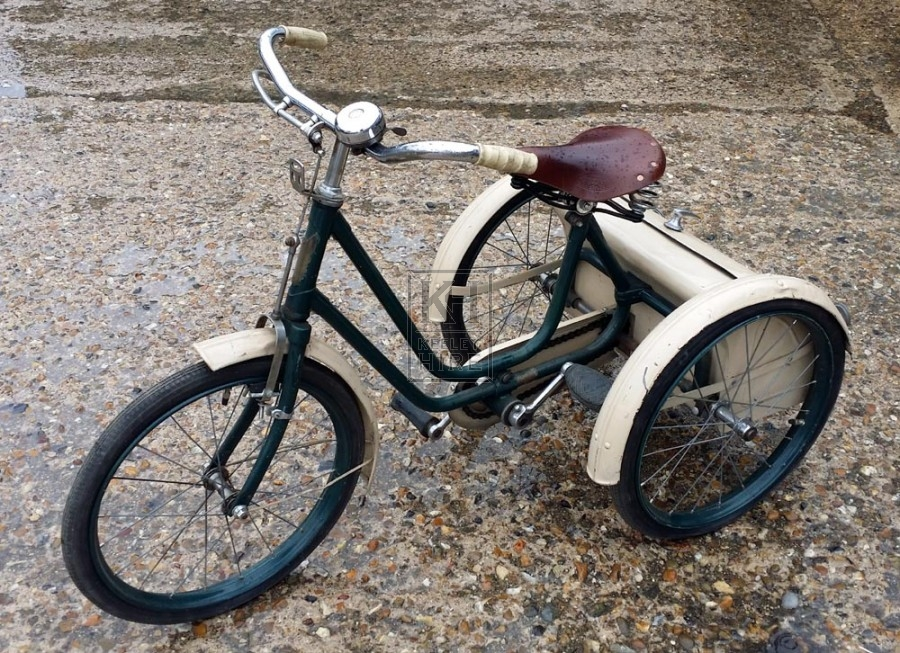 Green & cream childs tricycle
