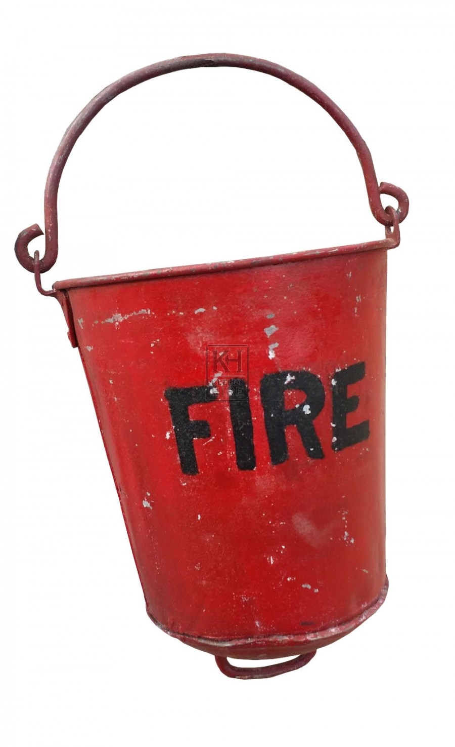 Period Industrial red fire bucket