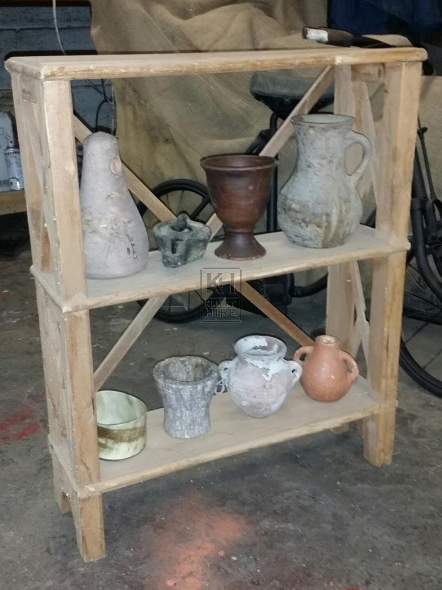 Small wall shelf with dressing