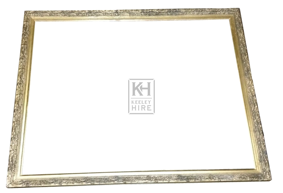 Gold ornate frame with beading