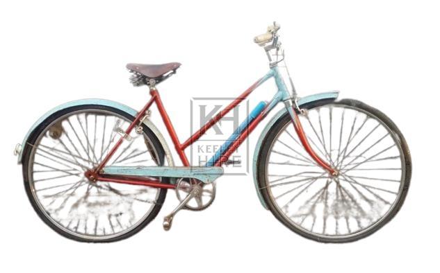 1960s bicycle - Ladies blue & red