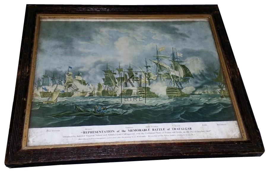 Battle of Trafalgar framed picture