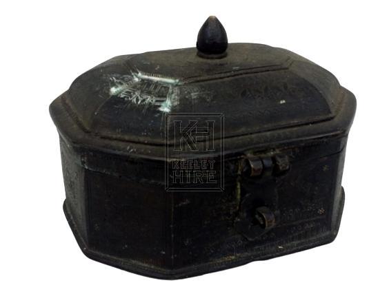 Small ornate brass box