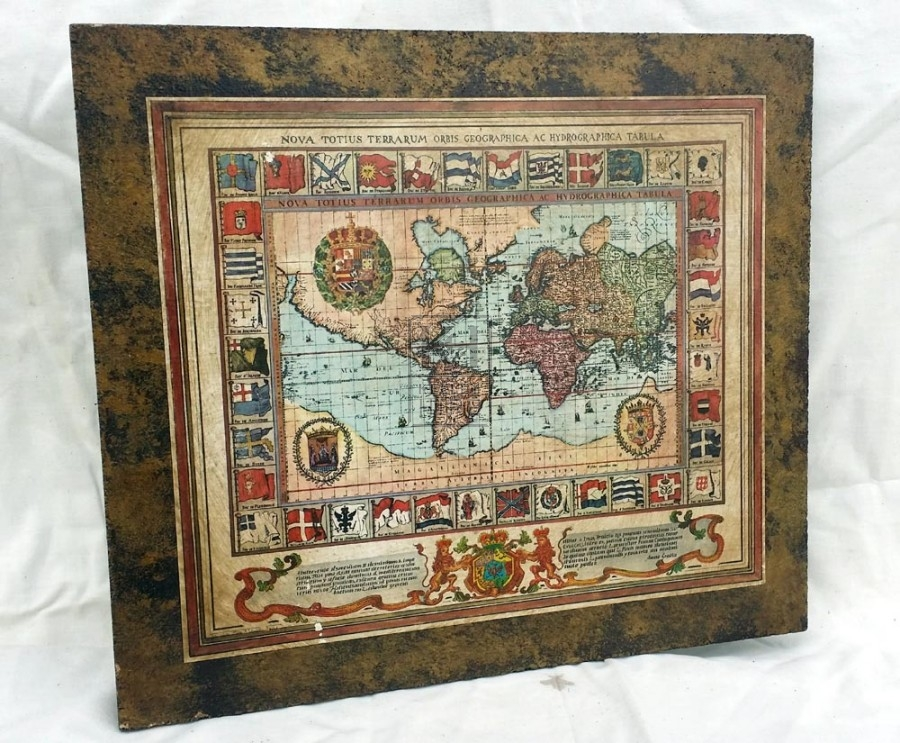 Geographic aged world map