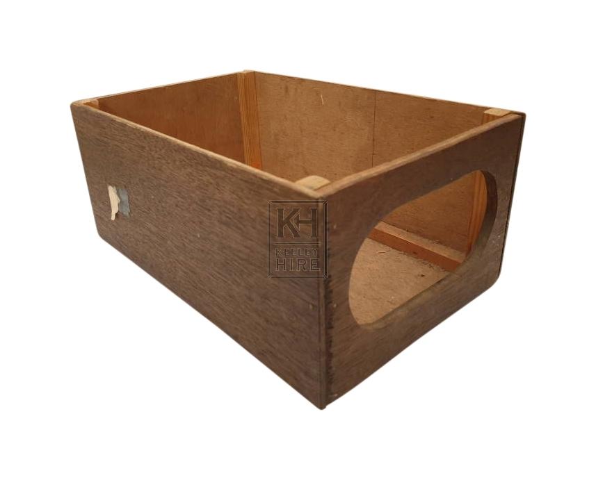 Wood drapers box