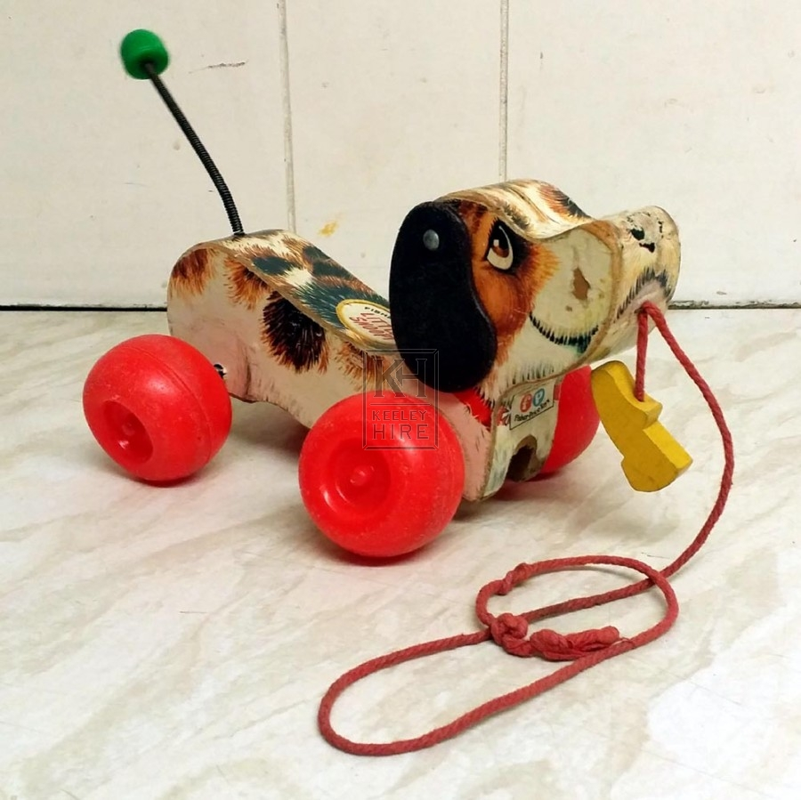 Toys And Games Prop Hire 70s Toy Dog On Wheels Keeley Hire