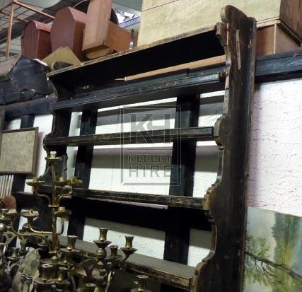 Large wood plate rack