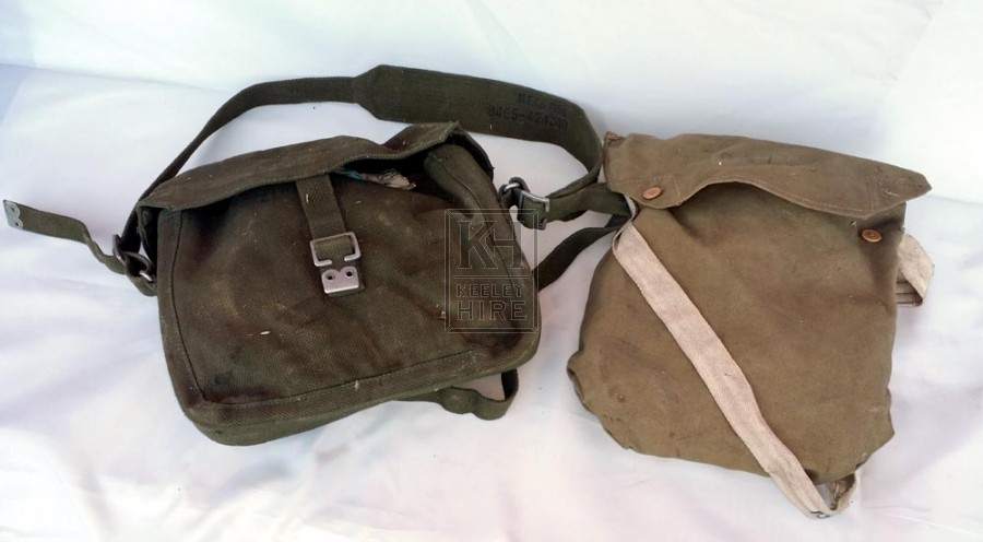 Assorted canvas bags