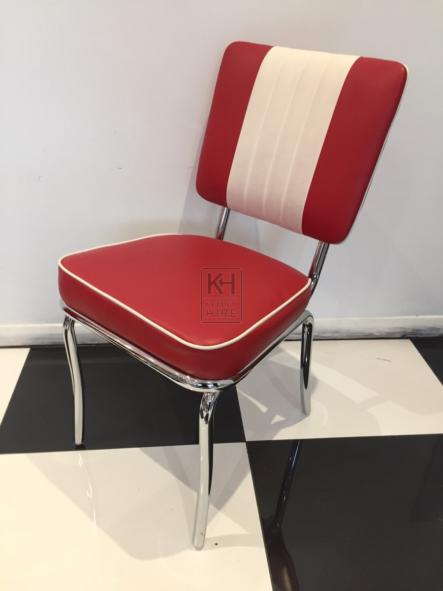 Classic Red American Diner Chair