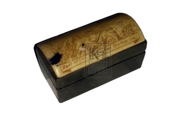 Small scrimshaw box