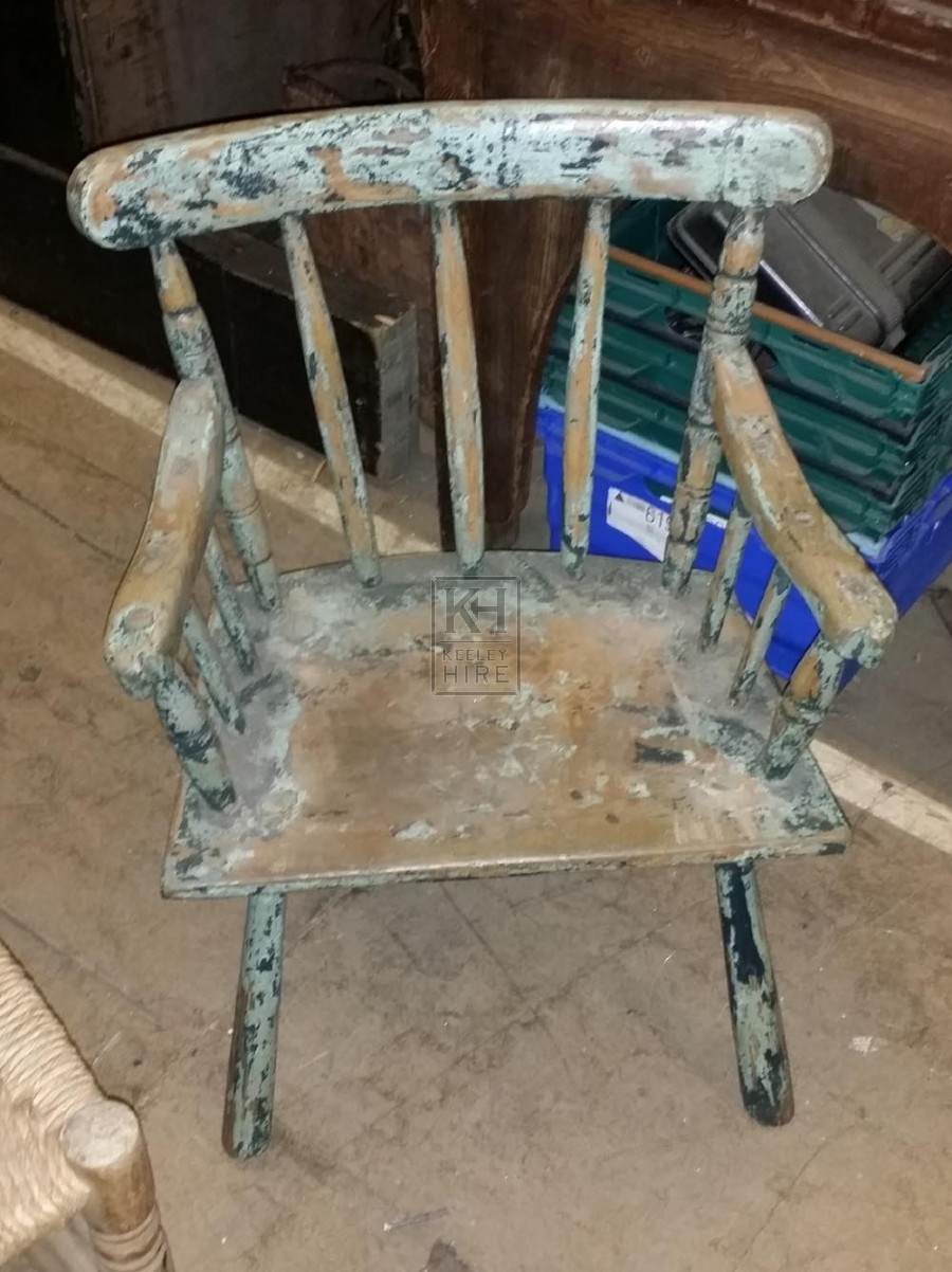 Small faded painted chair