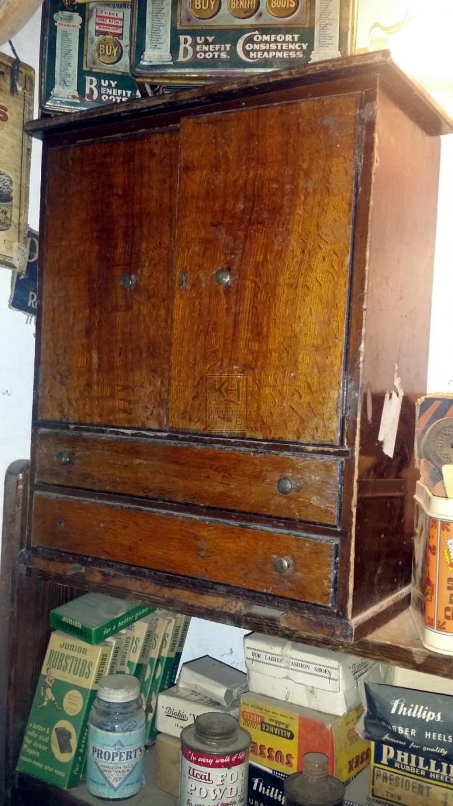 Small polished cobblers draw unit