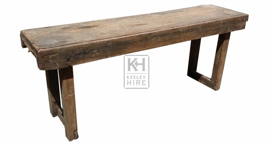 Simple wood bench square legs