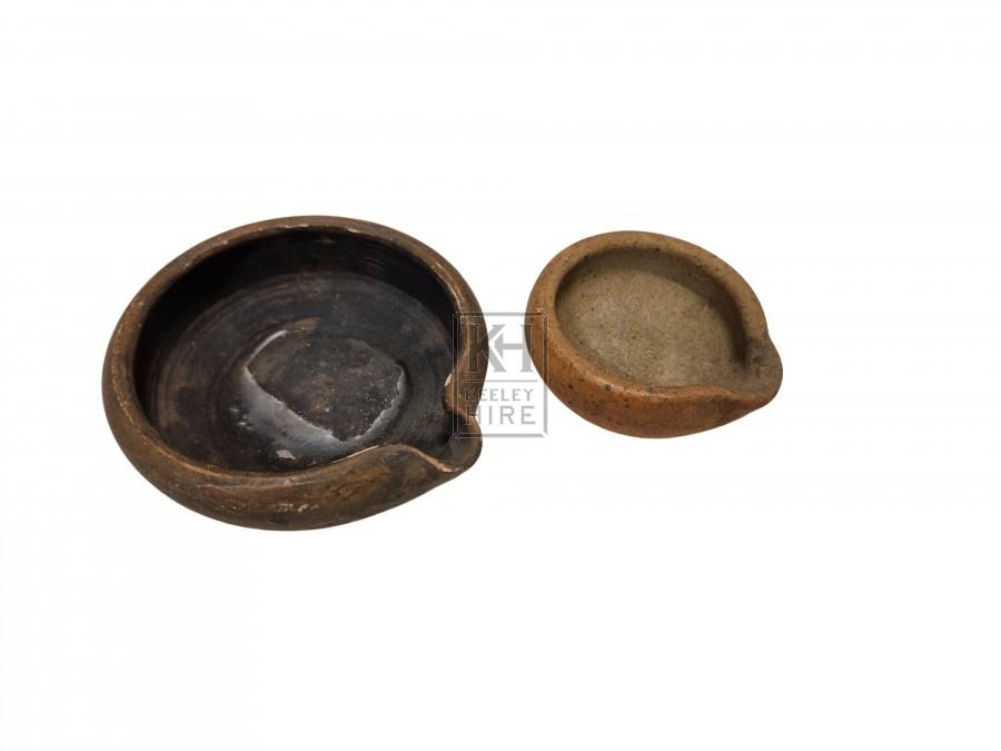 Small ceramic shaped burner