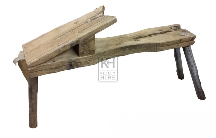 Wood carpenters trestle