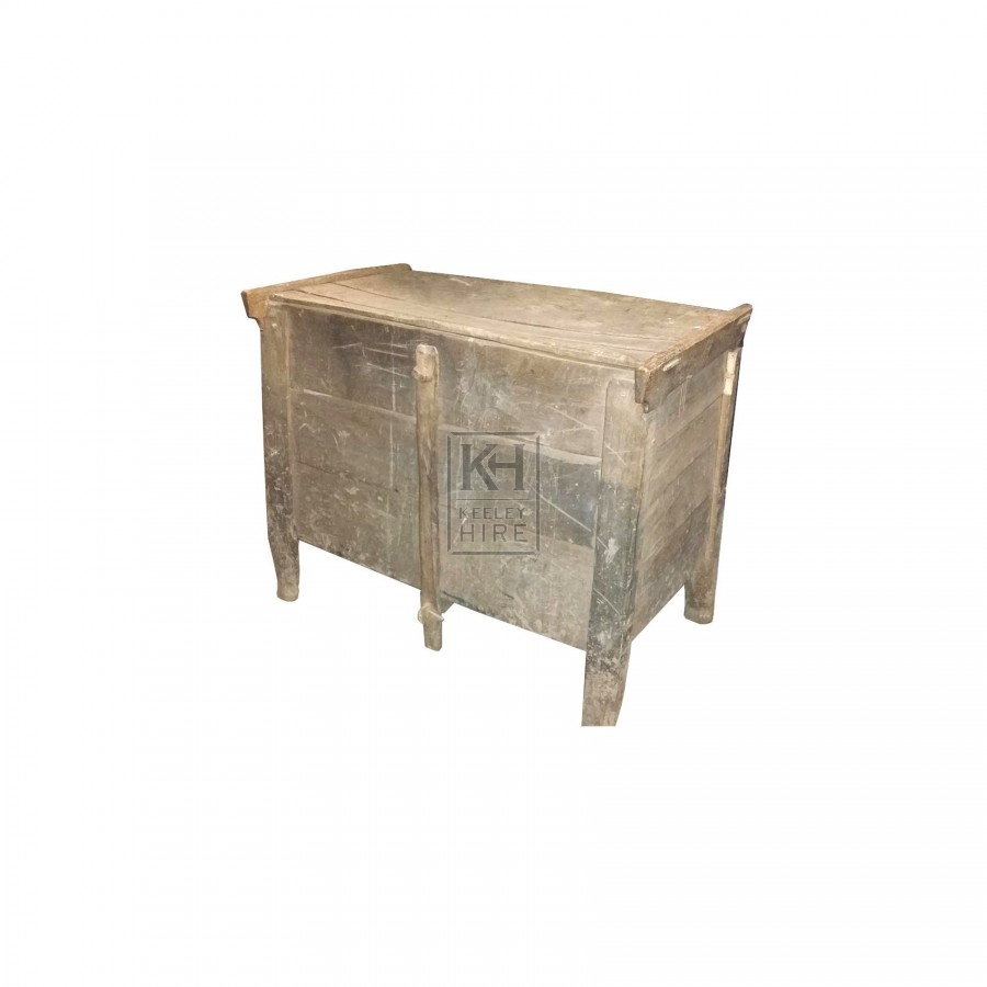Large light wood flat top chest