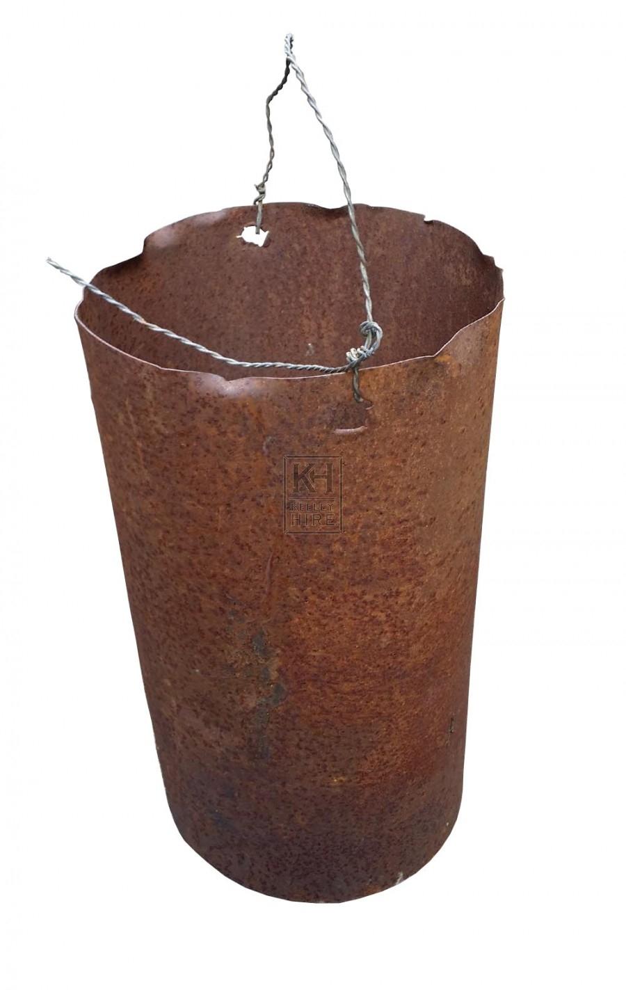 Rusty metal drum