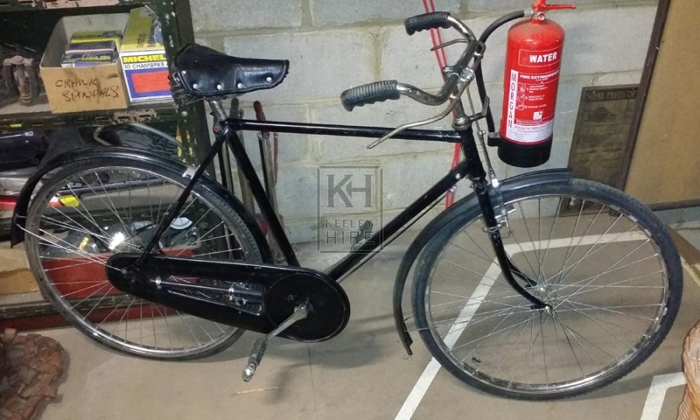 Period gents black bicycles 40s