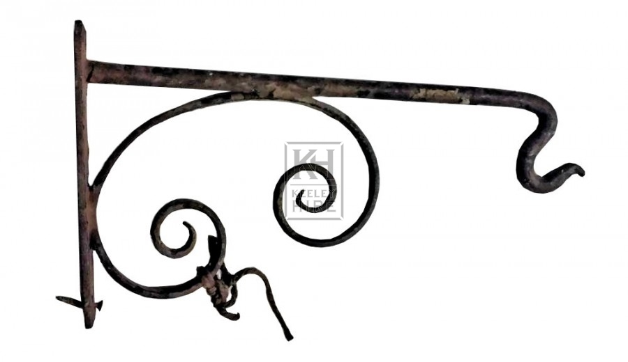 Small iron bracket with hook