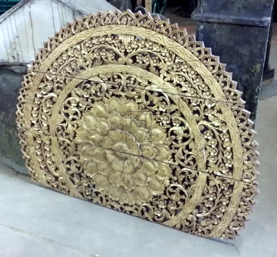 Large gold fret work section