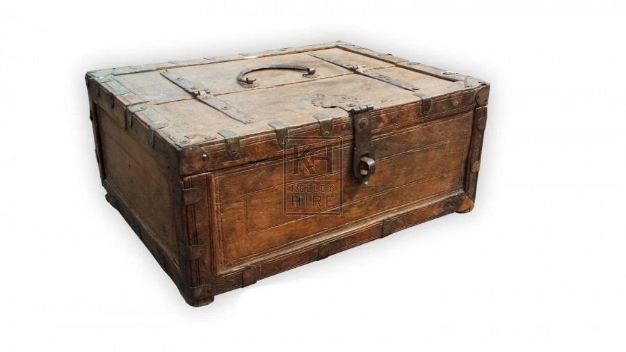 Wood chest with iron work