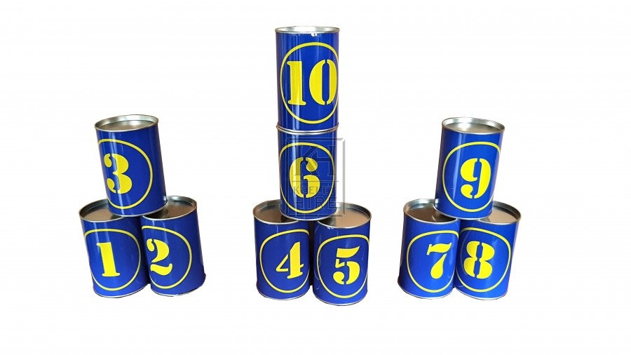 Tin Cans for fairground stall