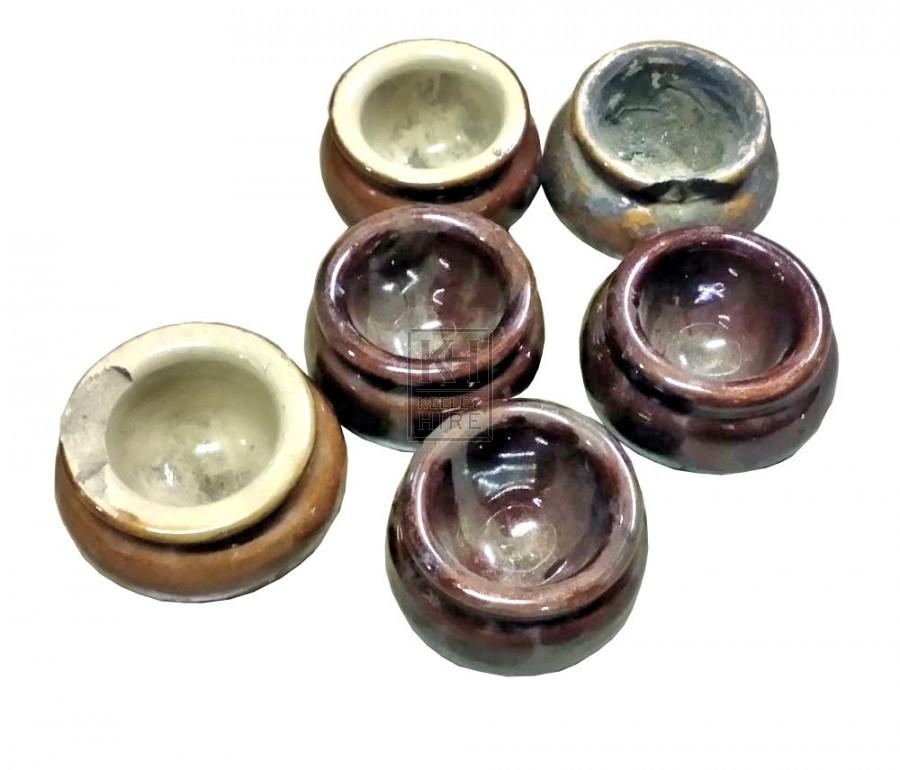 Small ceramic paint pots