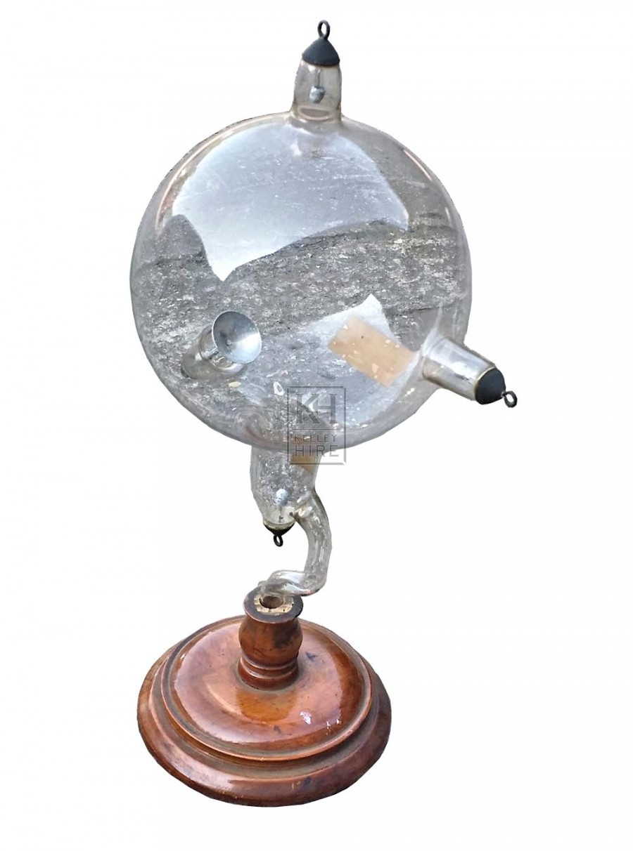 Glass condensing vessel