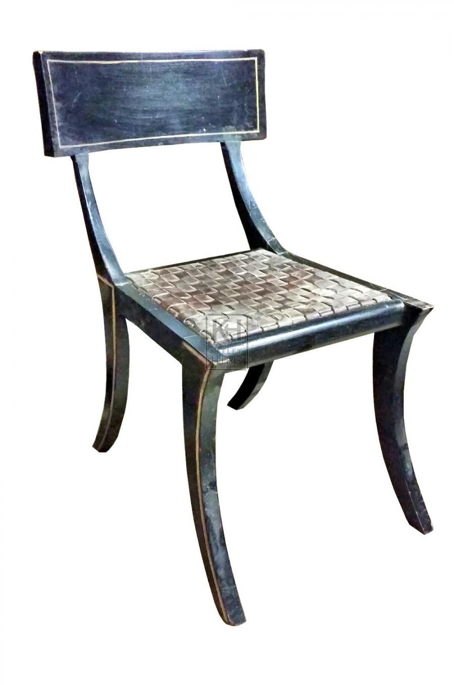 Black curved leg chair