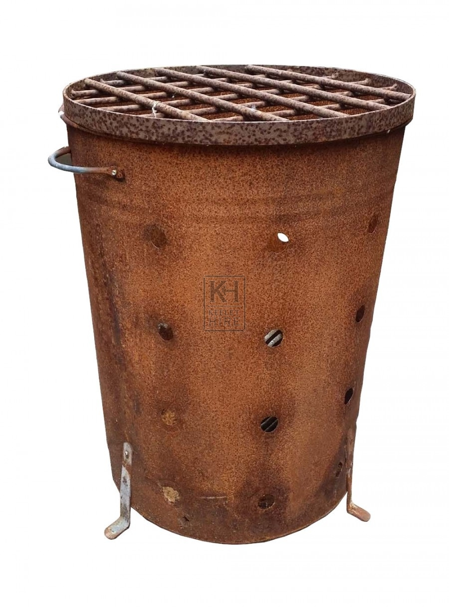 Drum brazier with holes