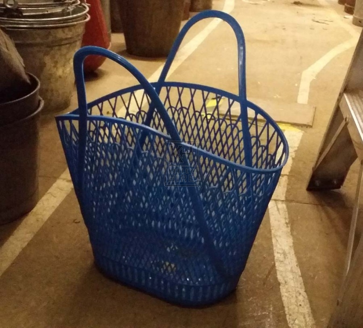 Plastic basket blue