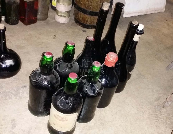 Assorted period bottles