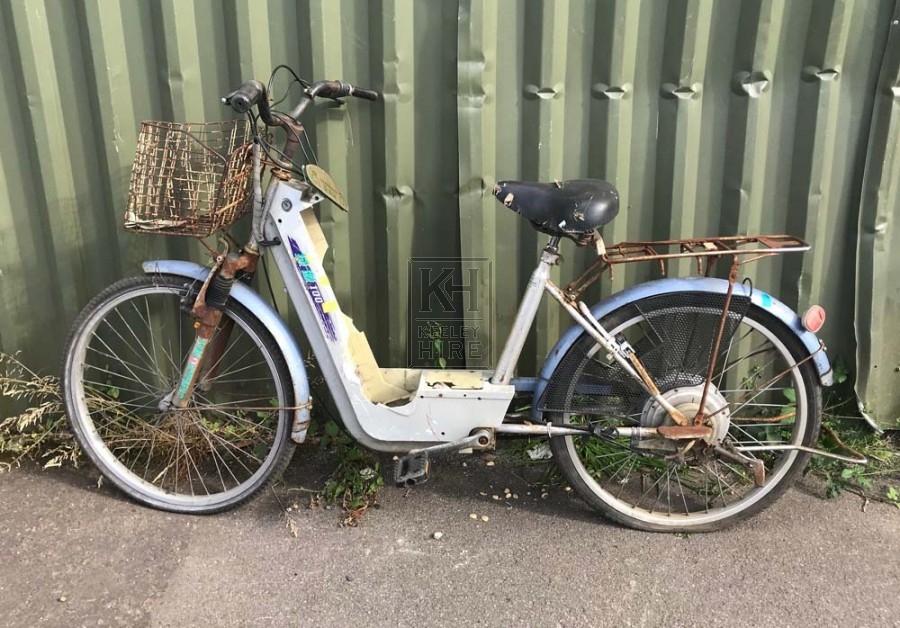 Old broken moped
