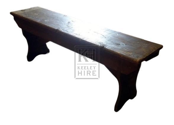 Short dark wood bench