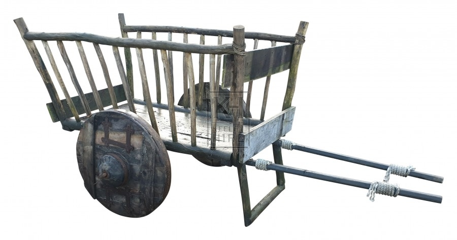 Large Early Stick-Side Hay Cart