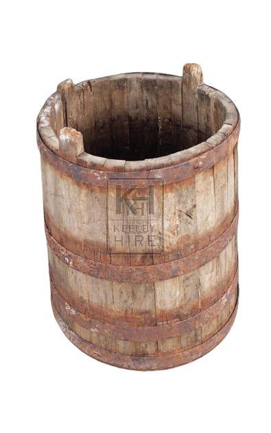Wood iron banded tub
