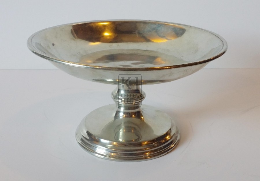 Silver dish on stand