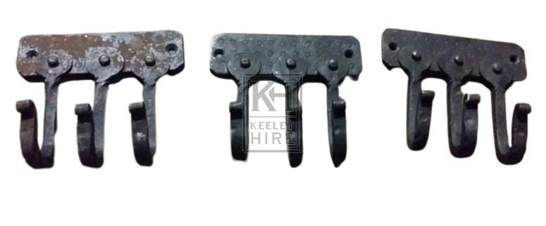 Small iron triple hook