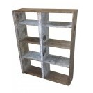 Simple wood shelf unit