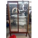 Polished freestanding display cabinet